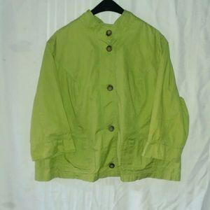 Eddie Bauer 2X  jackt .3/4 sleeve, 100% cotton .